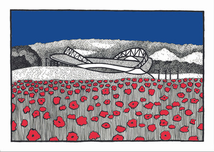 Amex and poppies