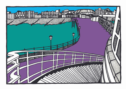 Worthing pier from the stairs