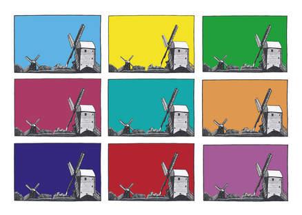 Jack and Jill windmills