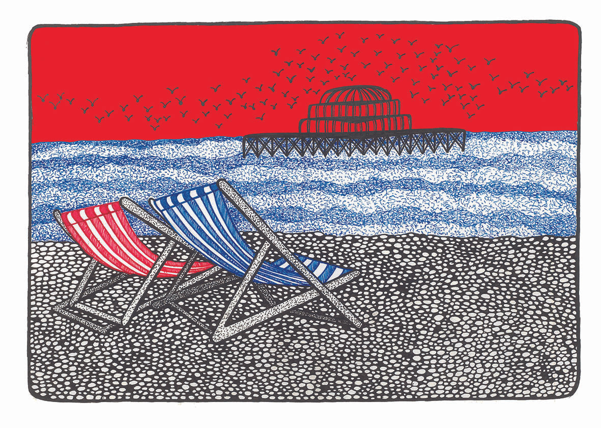 West Pier and deck chairs