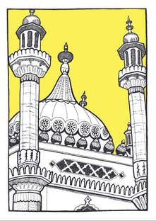 A4 Brighton Pavilion YELLOW.jpg