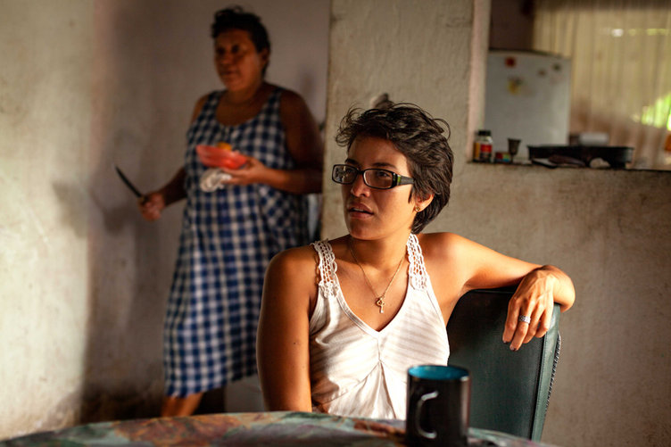 Angelina, a Costa Rican American, listens to the history of migration of her familys stance on the Boarder.