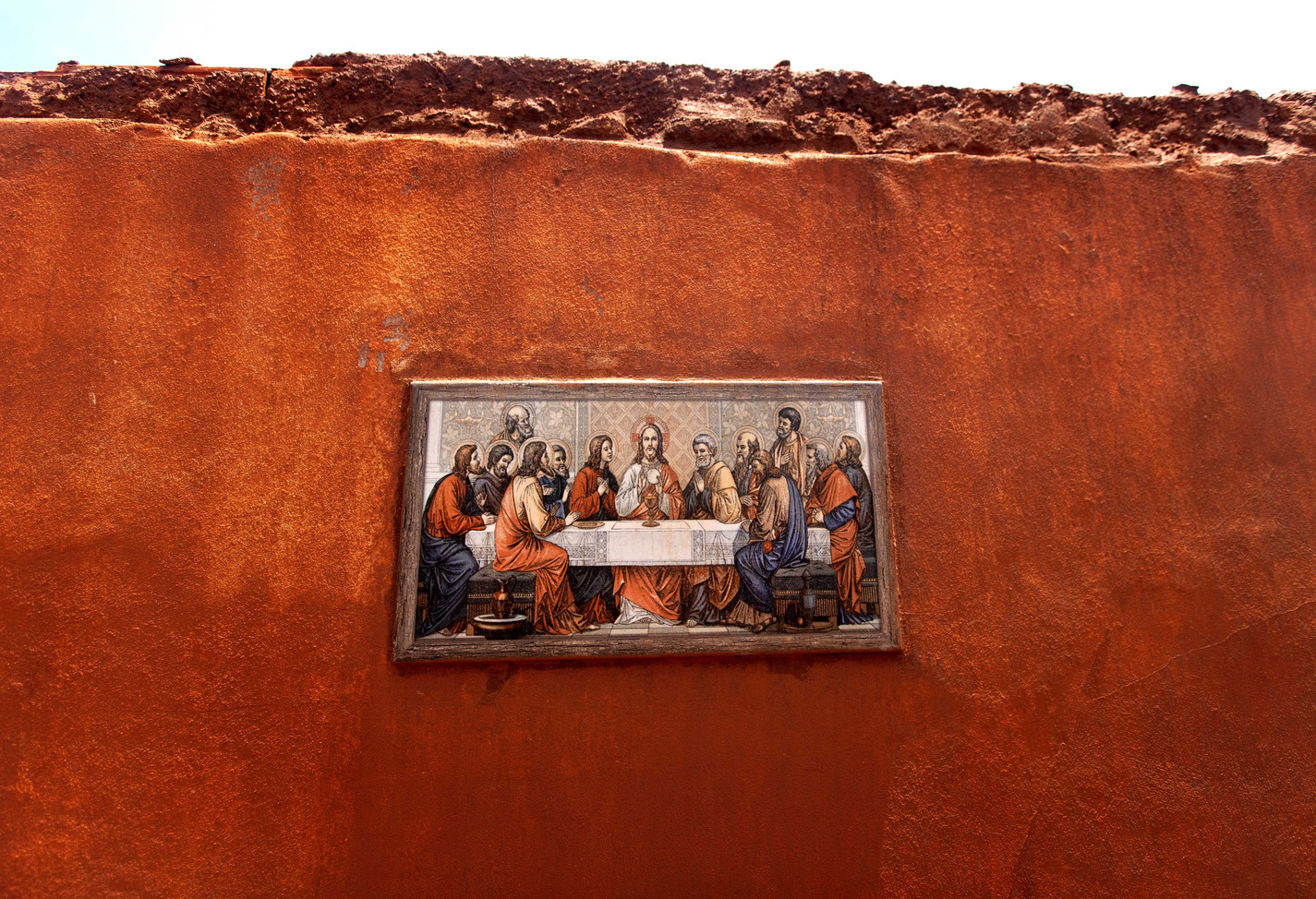 Despite the total destruction of the house, a photo depicting The Last Supper remains intact. From Bento Rodrigues, Minas Gerais, BR.