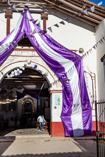 """Huancas is one of the 21 districts in the Chachapoya Region. During the Catholic festival """"lord of the miracles"""" on October 18th the whole town is covered in festivel clothes."""