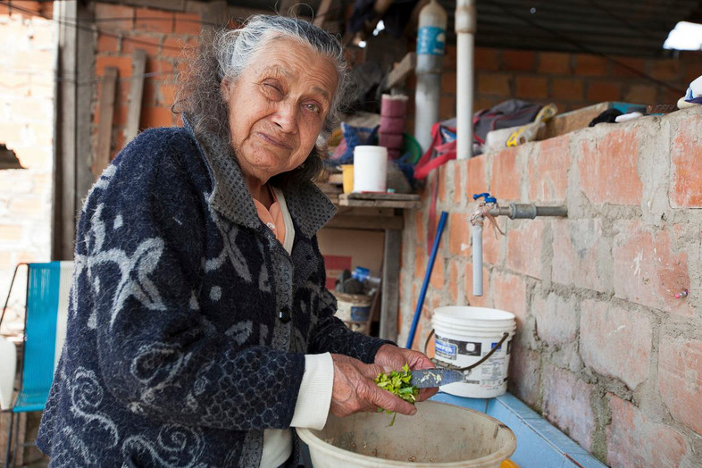 """""""Mama"""" Has a simple way of seeing life. She was born in the district of Santo Tomás and moved to the Center of Chachapoyas where she lives now with her husband and three grown children."""