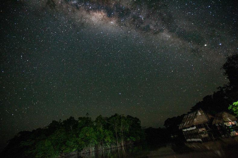 Milky Way Over the Amazon