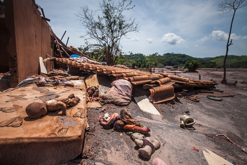 Remains of one of the villages affected by the mudslides. Paracatu De Baixo, Minas Gerais, BR.