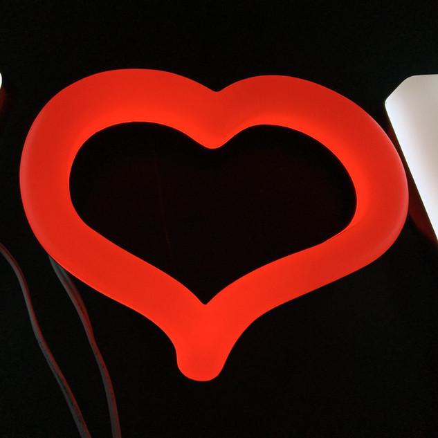 Heart FAUX NEON