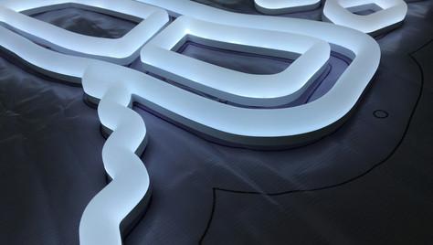 Faux Neon White Logo