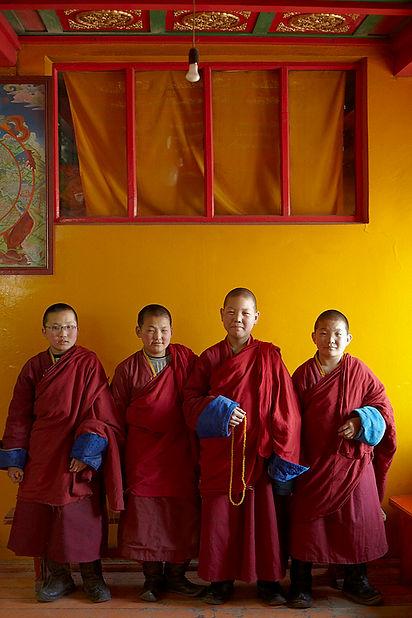 Novice monks at Gandantegchinlen Monaste