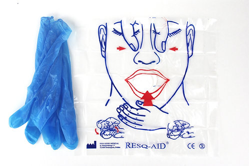 CPR RESQ-AID™ Face Shield With Gloves (10)