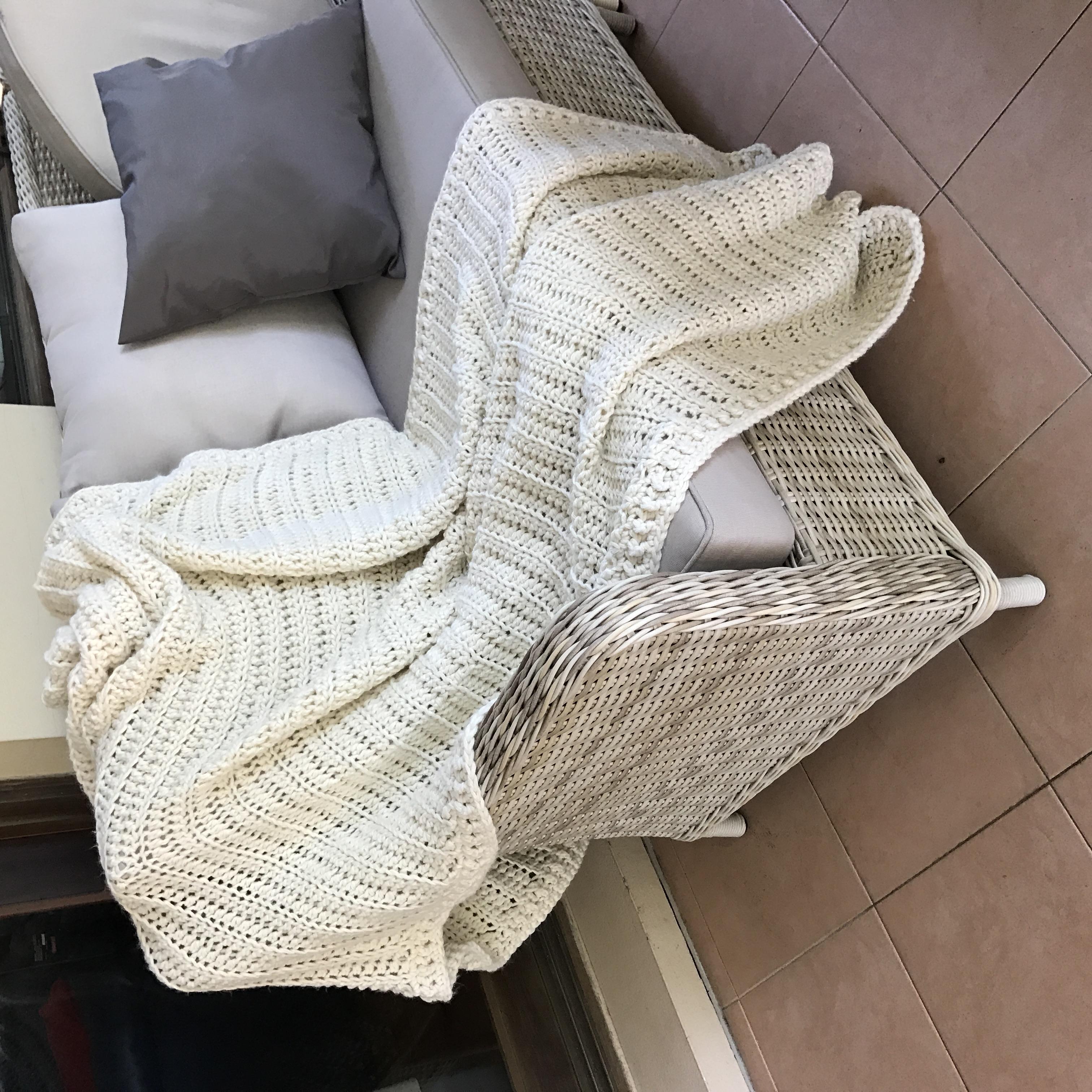 Chunky Cream Blanket