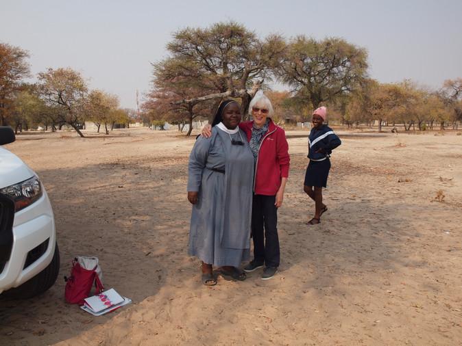 Sister Gertrude with Trustee Ann Hibbert