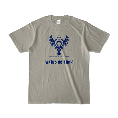 オリジナルTシャツ Weird AF ユニセックス グレー