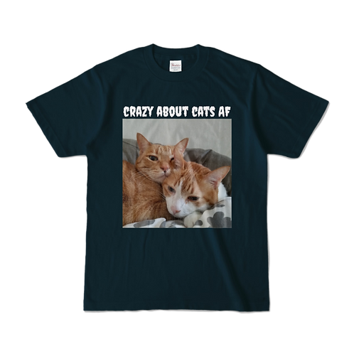 Crazy About Cats AF T  Navy