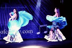 magdansöser uppträder i Kairo, orientalisk dans