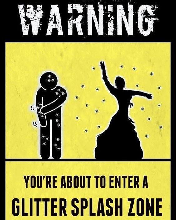 Varning för glitter