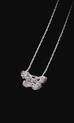 Flutter - Fine Silver Lace Pendant