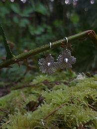 Apple Blossom Fine Silver Earrings