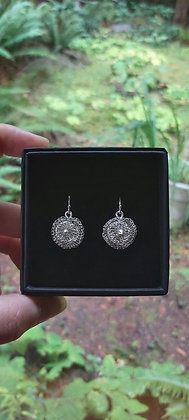 Clara Fine Silver Earrings