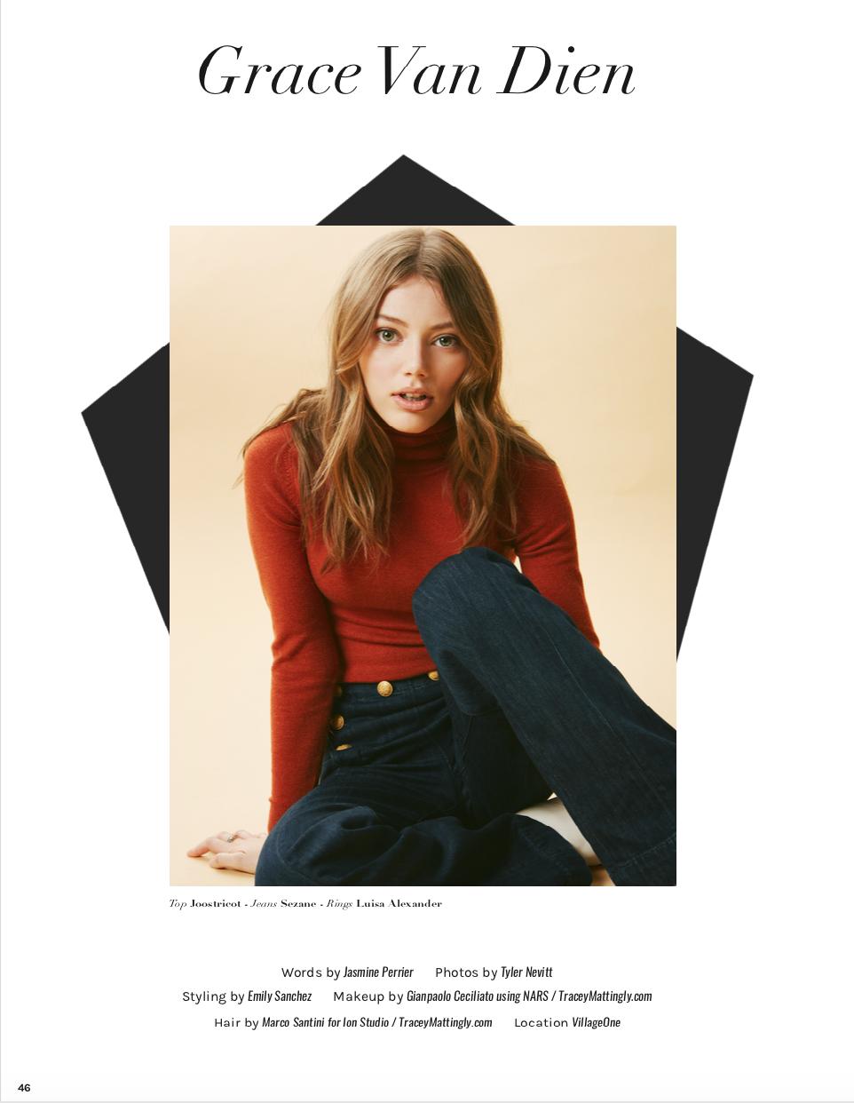 Grumpy Magazine, Grace van Dien