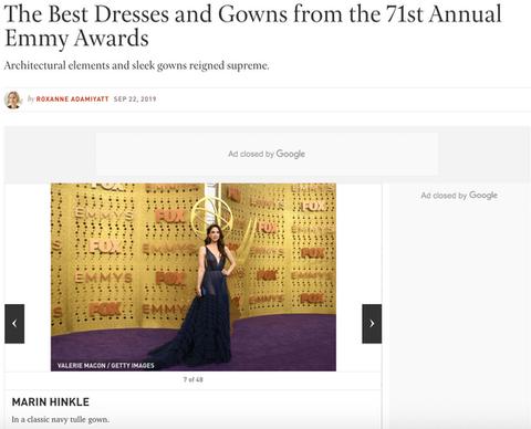 Marin Hinkle Best Dressed Emmy's