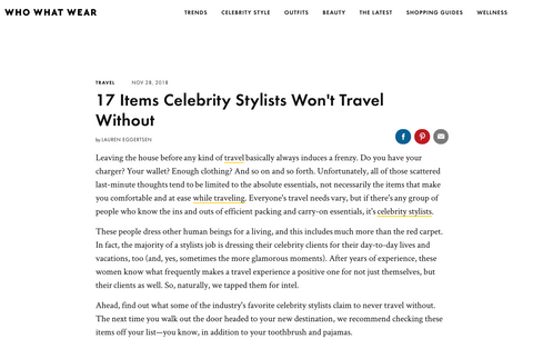 Stylist Travel