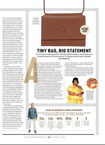 Tiny Bag, Big Statement, Hollywood Reporter