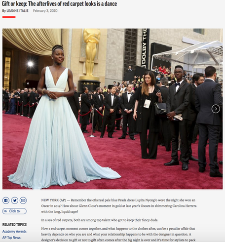 Gift or Keep: The afterlives of red carpet looks is a dance