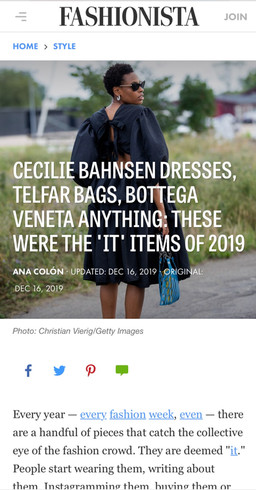 IT Items of 2019, Fashionista
