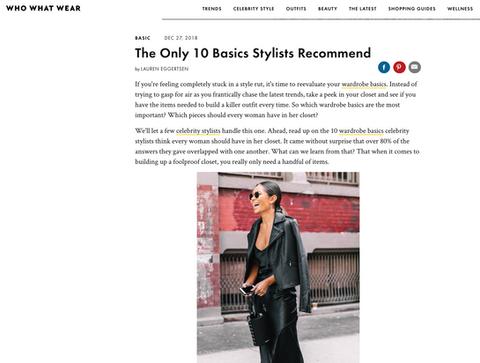 10 Stylist Basics