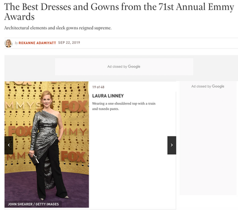 Laura Linney Best Dressed Emmy's