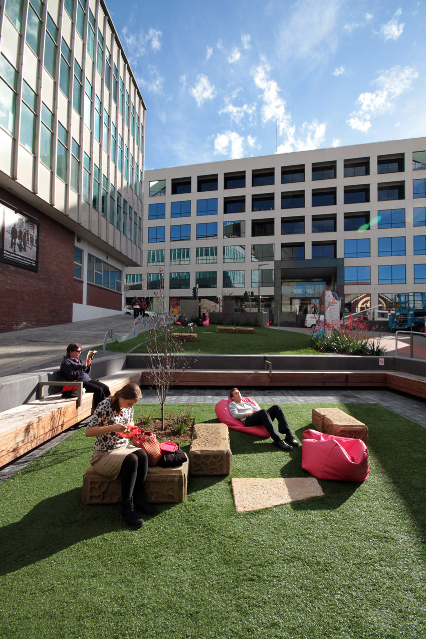 Seating Area in Pocket Park