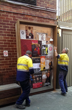 Criterion Lane Noticeboard Install