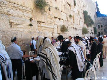 Ściana Płaczu. Modlitwa pod murem.