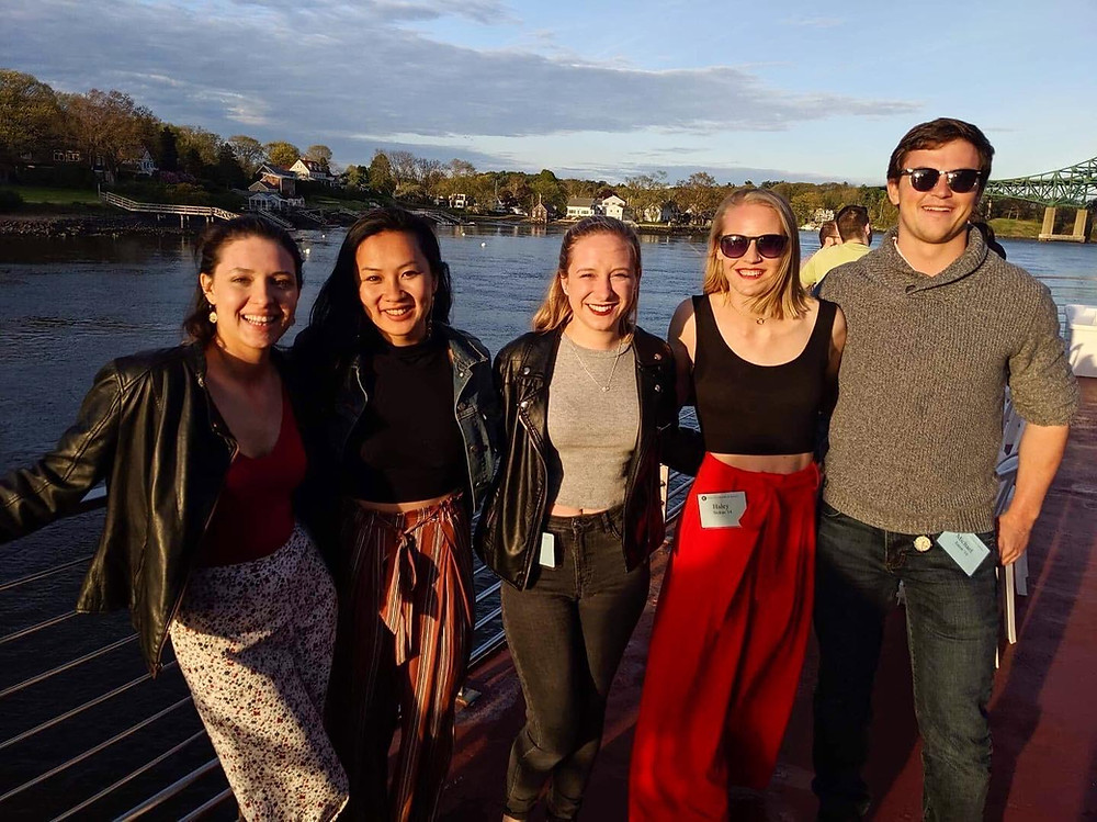 Meagan and friends at Phillips Exeter Academy's 2018 high school reunion