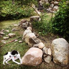 Dry stacking rock