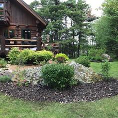 Rock garden install