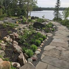Flagstone path/ Garden install