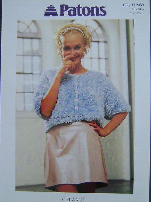 Patons Short Sleeve Cardigan knitting pattern