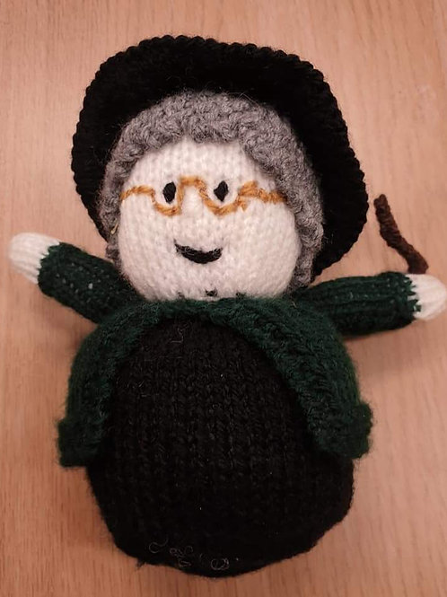 Hand Knitted Small  Witch
