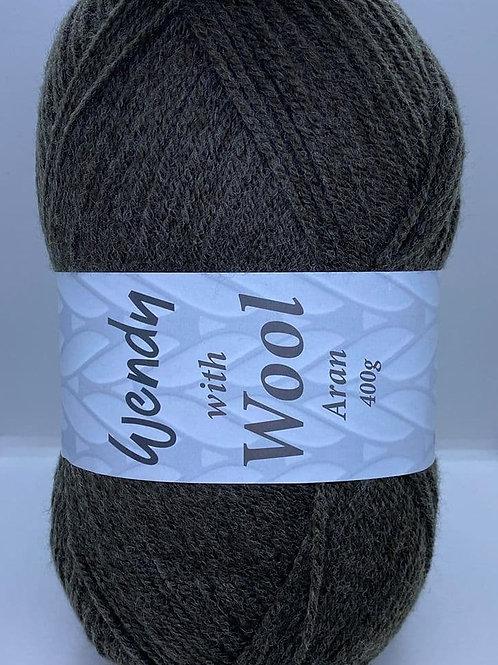 Wendy With Wool Aran 400g - 5506 Peat