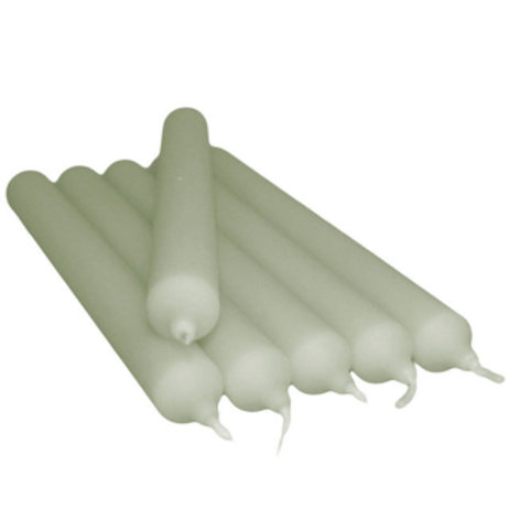 Pack of 5 Candles  21 cm; Marble Grey