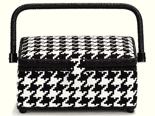Prym Small Glencheck Sewing Basket