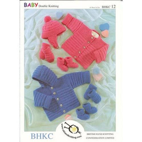 """UKHKA DK Baby Knitting Pattern: 16-22"""""""