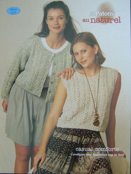 Patons Ladies  Knitting Pattern 2033