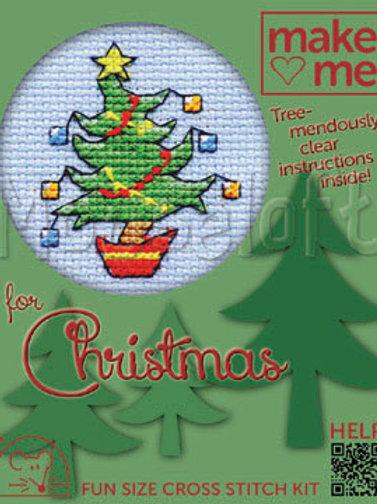 MAKE ME FOR CHRISTMAS: Cross Stitch Kit Happy Tree