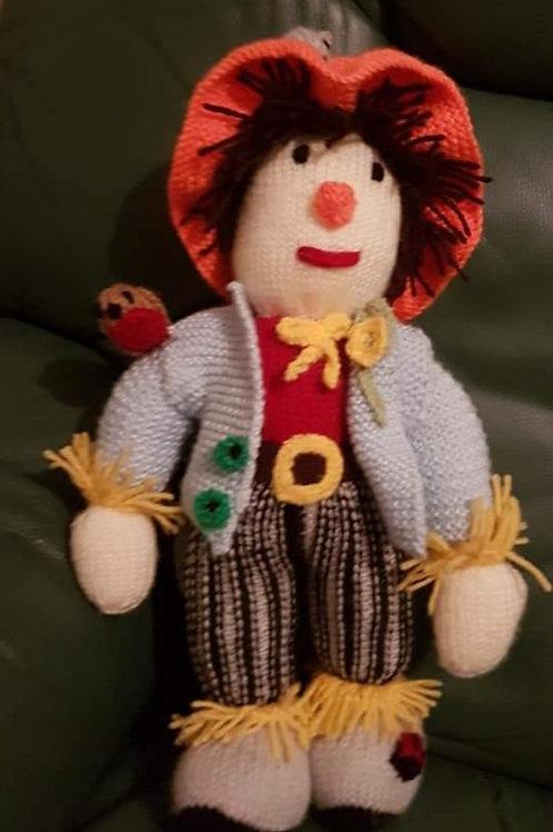 Handknitted Scarecrow medium size toy