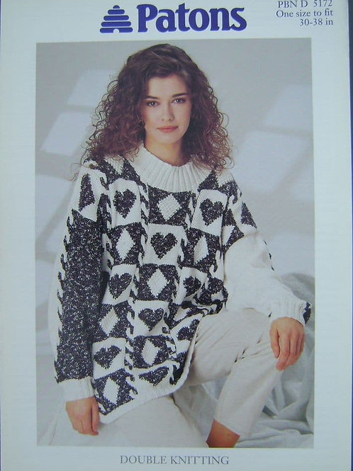 Patons  ladies double  Knitting Pattern 5172