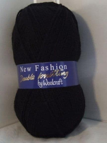 Woolcraft  Dk black: 100 grams